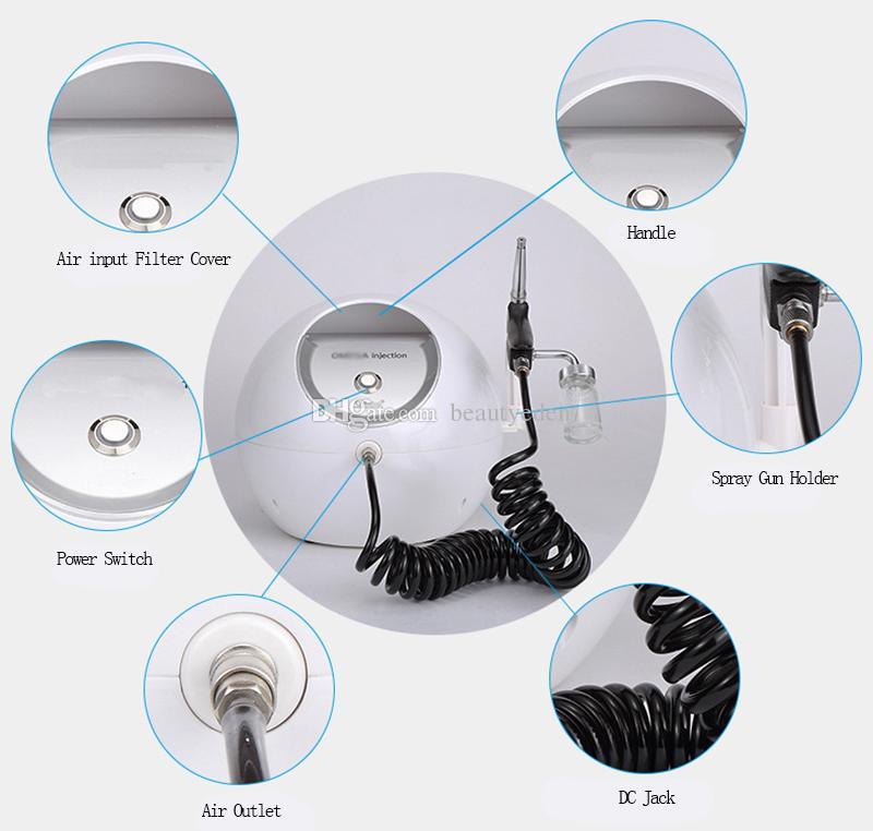 Portable Korea Oxygen Jet Peel Agua Oxígeno Facial Rociador de Agua Para la Piel Rejuvenecimiento Cara Limpieza Oxígeno Jet Peeling Machine