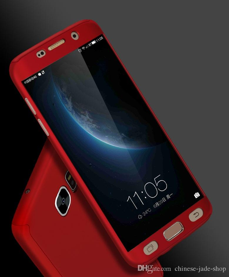 FOR Samsung Galaxy J7 Prime A7 2017 s9 s9 plus A8 2018 A8 PLUS 2018 360 Degree PC Full Coverage Tempered Glass Cover Case