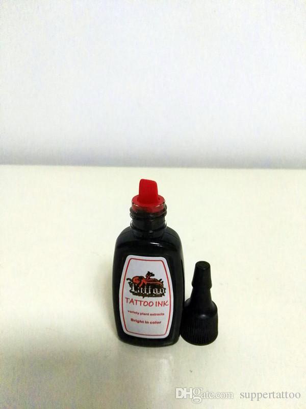 TATTOO Eén fles top zwarte tattoo-inkt 1/2 oz tattoos permanente make-up pigmenttoevoer