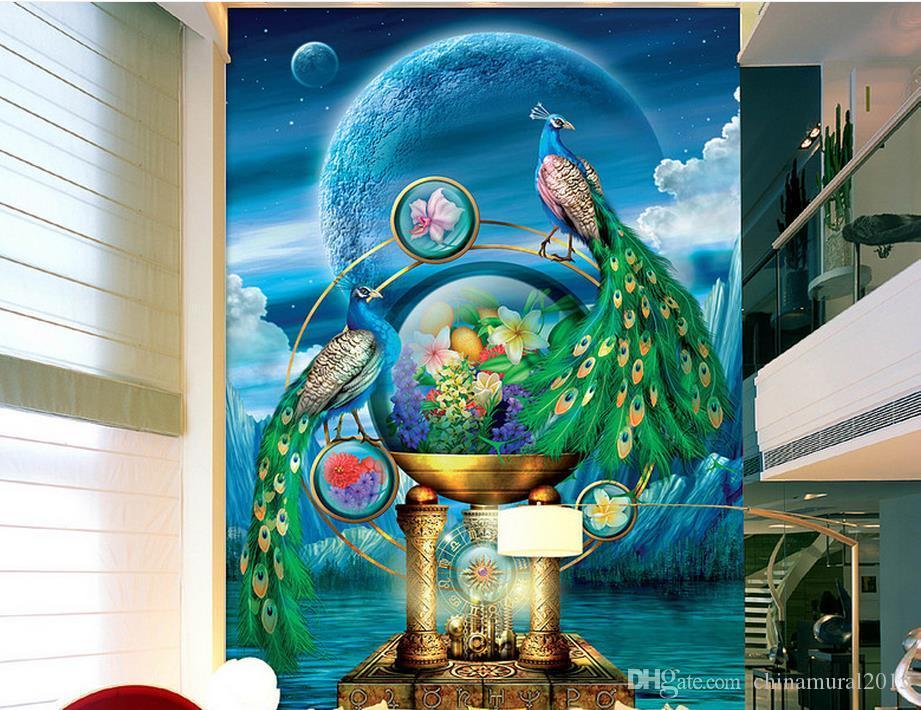 3d Wallpaper Custom Mural Peacock Scenery Beautiful Wallpapers Free Mobile Nature From Chinamural2015