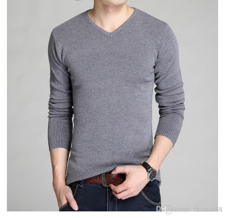 Wholesale New style fashion brand clothing men sweater knit sweater dress imported-clothing size M-2XL