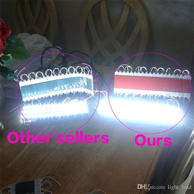 Modules LED IP65 Etanche DC12V SMD 5730 3LEDs Light Lamp 5730 Blanc / Blanc chaud Lumière publicitaire de haute qualité