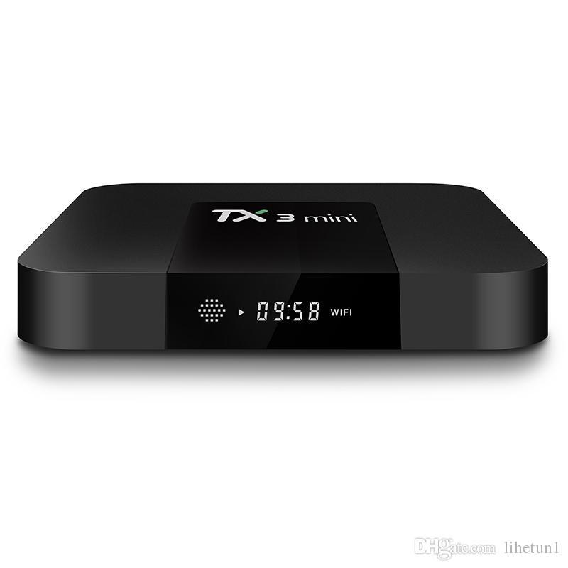 TX3 مصغرة الروبوت 8.1 صندوق التلفزيون 2GB 16GB Amlogic S905W رباعية النواة 2.4 جرام واي فاي 4K