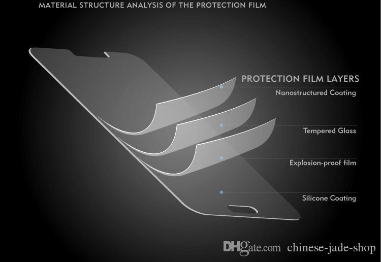 9H Premium 2.5D Protector de pantalla de cristal templado para Motorola Moto X5 G6 Plus Z2 Z3 Play /