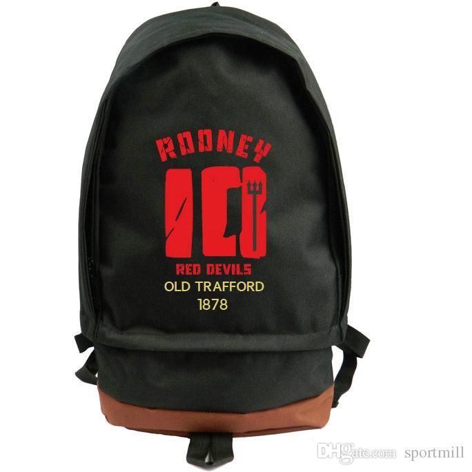 Wayne Rooney Backpack Football Athlete School Bag Soccer Fans Daypack Red  Eavils 10 Schoolbag Outdoor Rucksack Sport Day Pack 10 Backpack 10 Rucksack  10 Day ... 4046a715b1