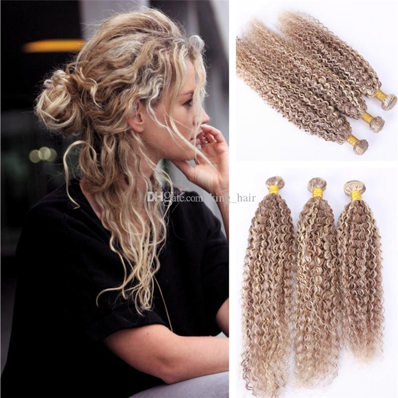 Cheap ombre piano color 27 613 hair extension kinky curly hair cheap ombre piano color 27 613 hair extension kinky curly hair weaves honey blonde and lightest blonde hair weft 3 bundles 10 30inch cheap remy hair weave pmusecretfo Choice Image