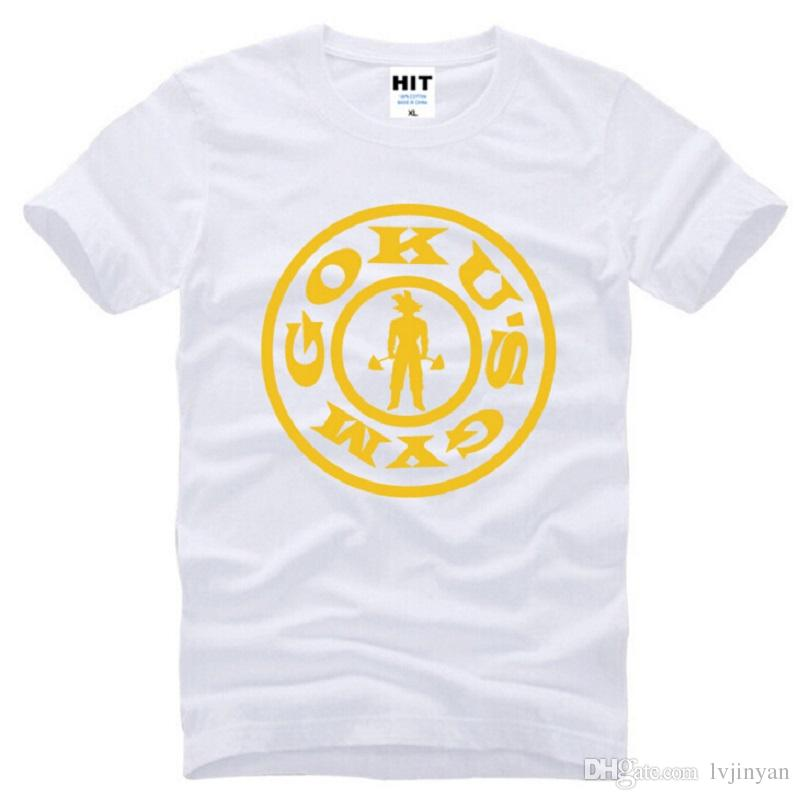 New Japan Anime Dragon Ball Z T Shirts Men Cotton Short Sleeve Saiyan Goku's Gym Men's T Shirt Summer Style Male Tops Tees