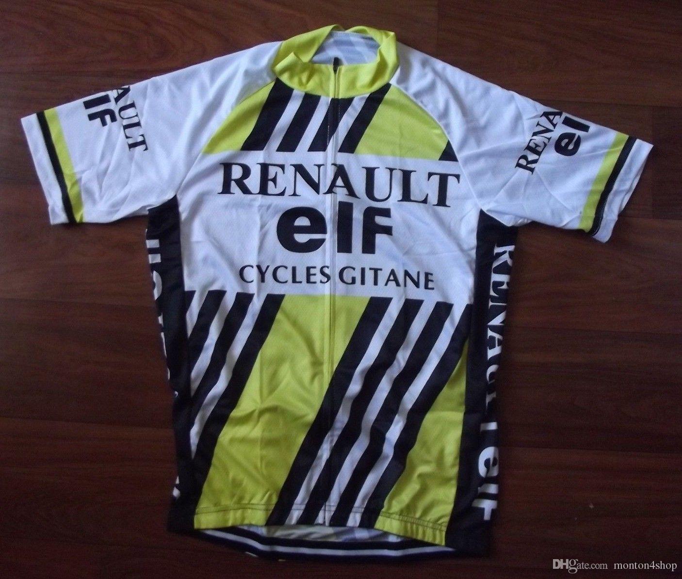 Renault ELF mens Ropa Ciclismo Abbigliamento da ciclismo / MTB Abbigliamento da bici / Abbigliamento da bicicletta / 2019 Ciclismo Maglie da ciclismo 2XS-6XL A52