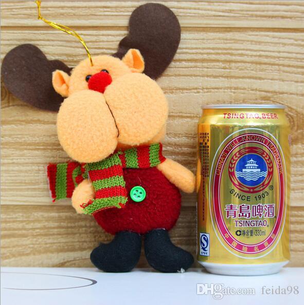 2017 Hot Sale Santa Claus Snow Man Reindeer Doll Christmas Decoration Xmas Tree Hanging Ornaments Pendant Kids Best Gift