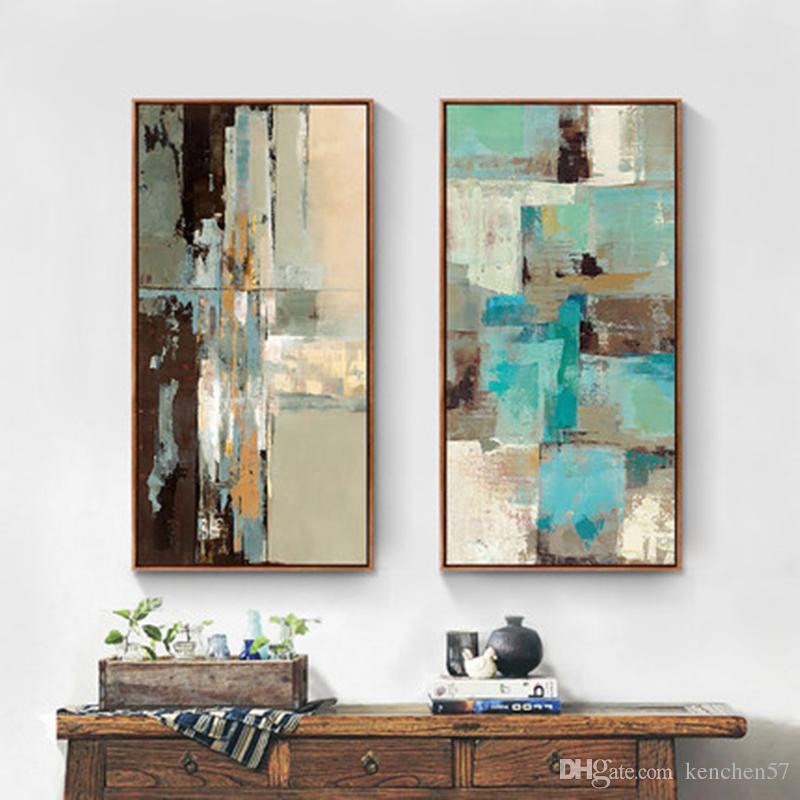 100% pintado a mano pintura al óleo abstracta en la lona moderna imagen de arte de pared decoración para el hogar sala de estar pinturas sin marco # 6012003