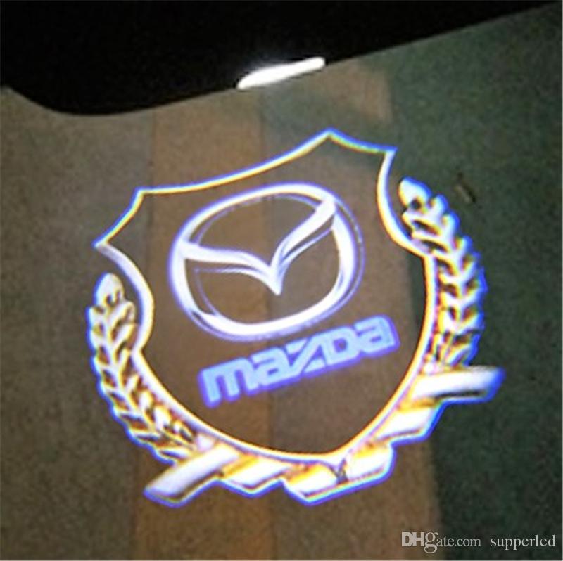 For Mazda 6 A8 RX-8 LED Car Door light laser Projector Logo emblem welcome light for Mazda