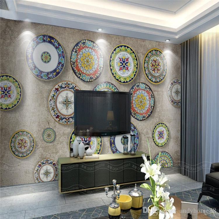 3d European Bohemian Living Room Sofa Tv Background Wall Mural Art Personality Restaurant Hotel Wallpaper Hd Wallpapera Wallpapers From Andyhome88
