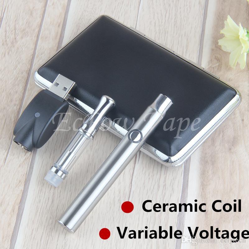 1ml .5ml A3 Cartuccia vuota Serbatoio ceramico Vape Pen Serbatoio Vaporizzatore Batteria a tensione variabile Vaping Ecigs Preriscaldamento VV Kit starter vaporizzatore