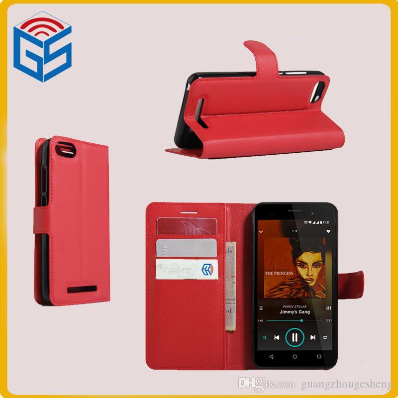 61a565d1d Fundas Para Telefonos Accesorios Para Teléfonos Celulares Para Wiko Lenny 3  / Lenny3 Diseño De Cartera Funda Con Tapa De Cuero Envío Gratis  Personalizar ...