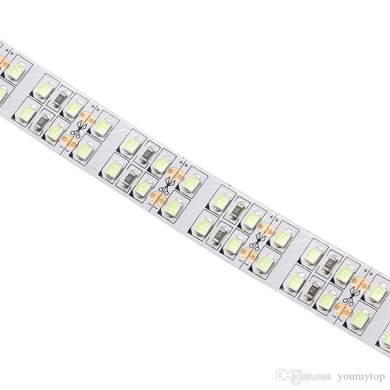 New 5mDC 12V Ice Blue Light SMD2835 240leds/m Double Row 15mm Non-waterproof LED Decor light