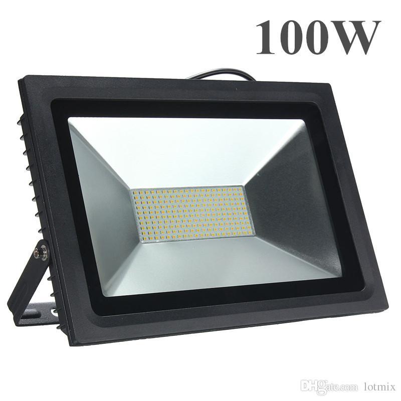 15 W 30 W 60 W 100 W 2835 SMD LEVOU Lâmpada Luz de Inundação Ao Ar Livre Paisagem Holofotes Pure White À Prova D 'Água IP66 AC180-240V