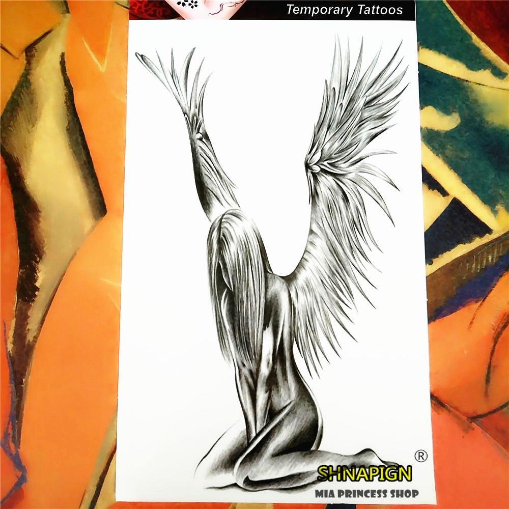 Wholesale angel wings temporary tattoo body art 12 20cm for Wholesale temporary tattoos