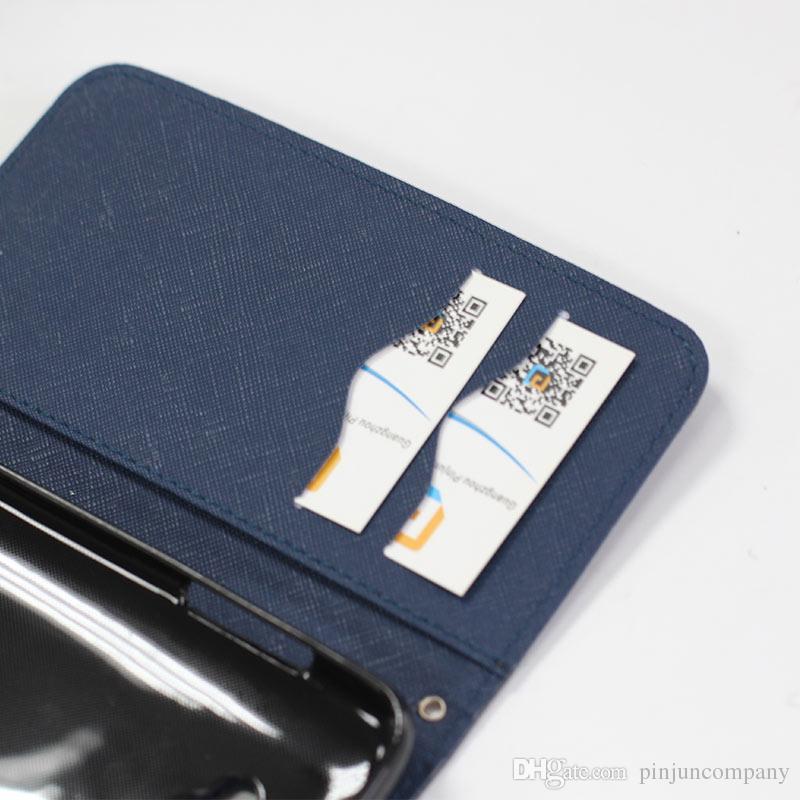Dla Alcatel 3 / Onyx Cricket PU + TPU Skórzany Portfel CSAE dla Samsung Galaxy J2 Pure Teleft Case