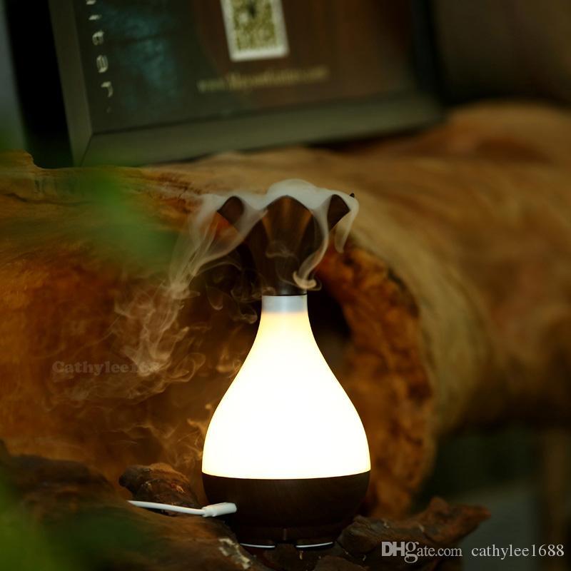 قادم جديد ! ! ! الصمام إناء على شكل مرطب بالموجات فوق الصوتية USB رائحة صانع ضباب الهواء الناشر لتنقية Lonizer البخاخة ليلة مصباح مرطبات
