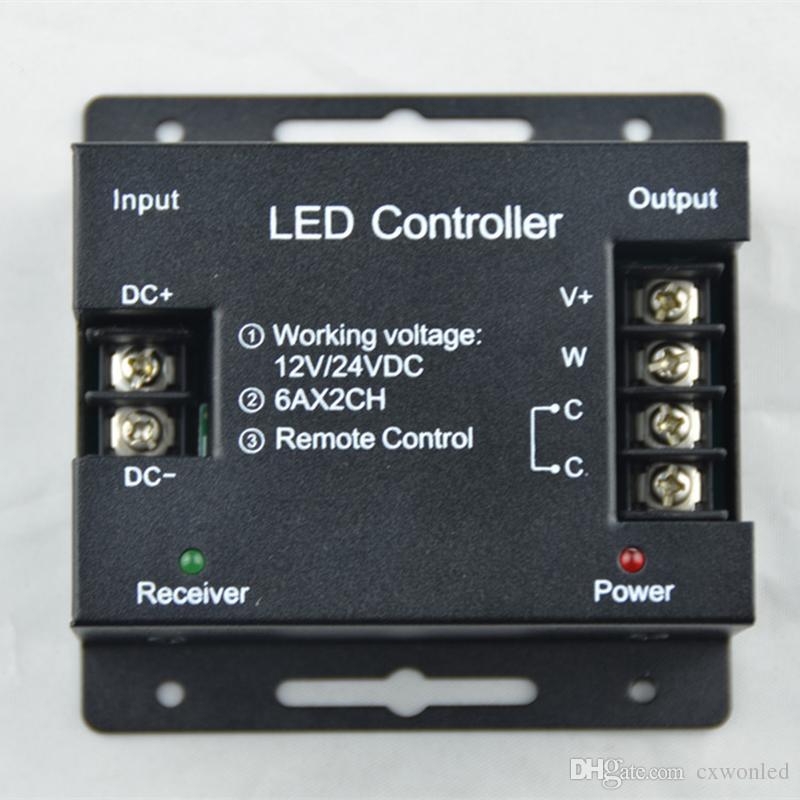 DC12-24V اللمس LED الضوء الخافت 12A 2Channels Controllor اثنين من لون مصباح المراقب المالي ل 5050 3528 بقيادة قطاع ضوء