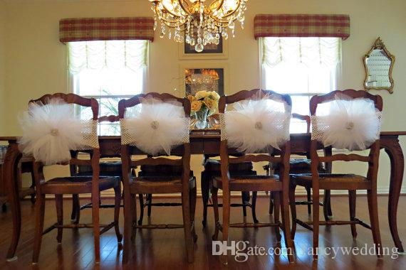 Custom Made 2017 3D Flower Crystal Chair Covers Vintage Romantic Chair Sashes Beautiful Fashion Wedding Decorations
