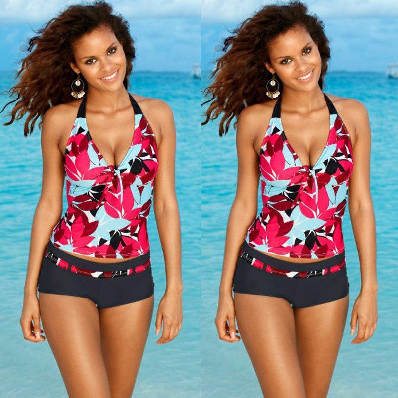 5343f4f5b9 2019 2018 Women Stripes Swimwear Push Up Tankini Top Maillot De Bain  Bathing Suit Swimsuit Plus Size Shorts Bikinis From Zhang110119, $9.91 |  DHgate.Com