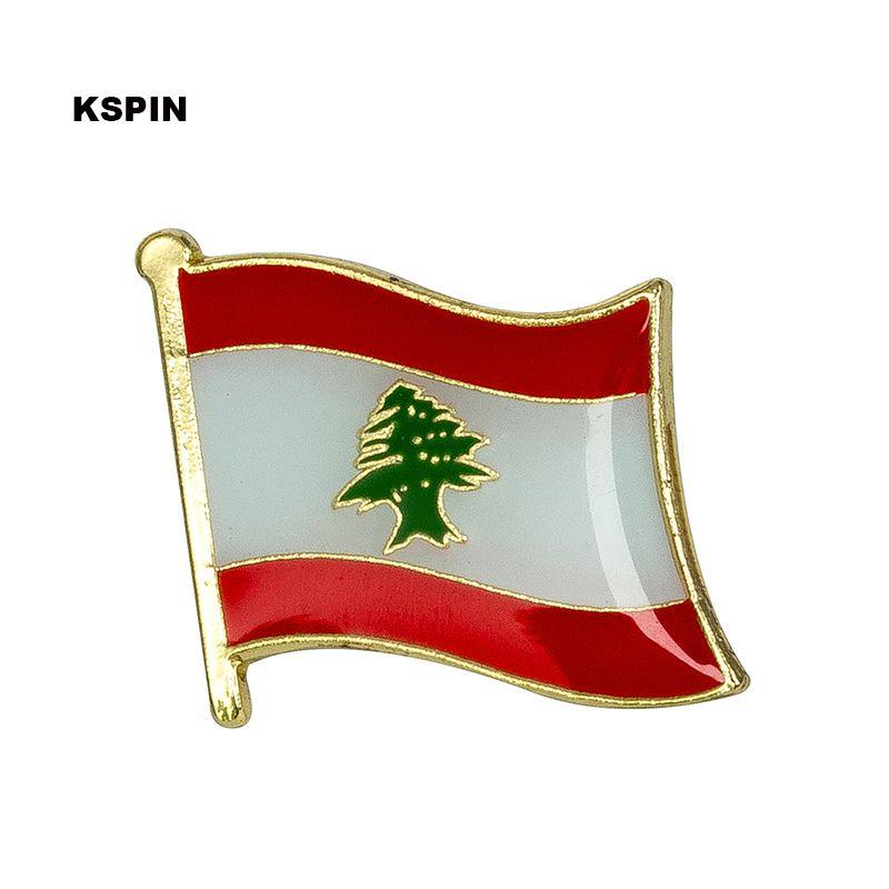 Spedizione gratuita in Libano Metal Badge Badge Flag Pin KS-0102