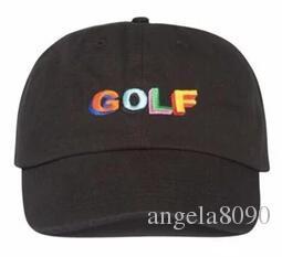 bace59eb2b1c Tyler The Creator Golf Hat - Black Dad Hat Cap Wang Cross T-shirt ...