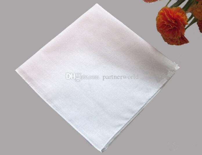 بيضاء نقية 100 ٪ مناديل النساء الرجال 41 سنتيمتر * 41 سنتيمتر الجيب ساحة الزفاف عادي diy طباعة رسم المنديل