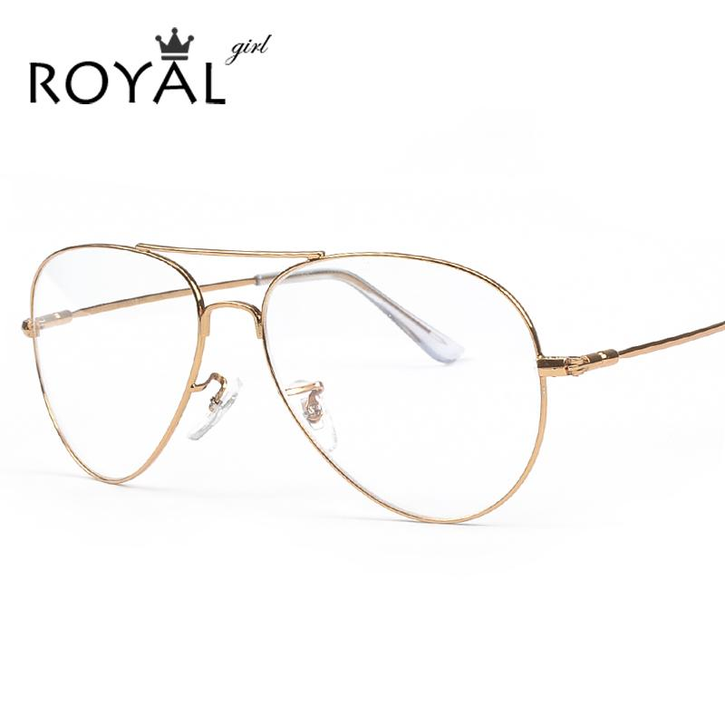 b36f20ba89 2019 Wholesale ROYAL GIRL Designer Pilot Eyeglasses Frames Women Optical  Glasses Metal Men Spectacle Ss002 From Newcollection