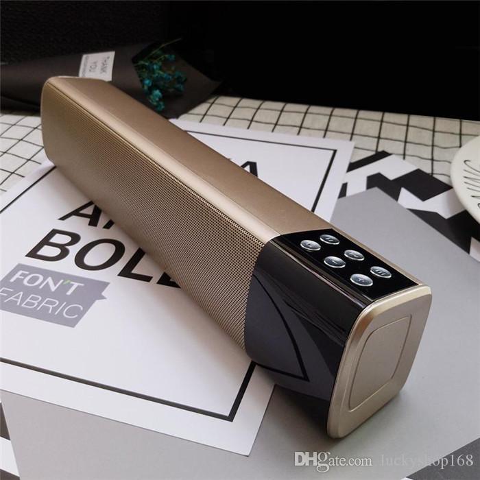 Nuevo Barato 10 W Inalámbrico Bluetooth Altavoces de Sonido Estéreo Portátil Con Pantalla LCD Soporte de Pantalla Digital TF USB Mp3 Reproductor de Música DHL Libre