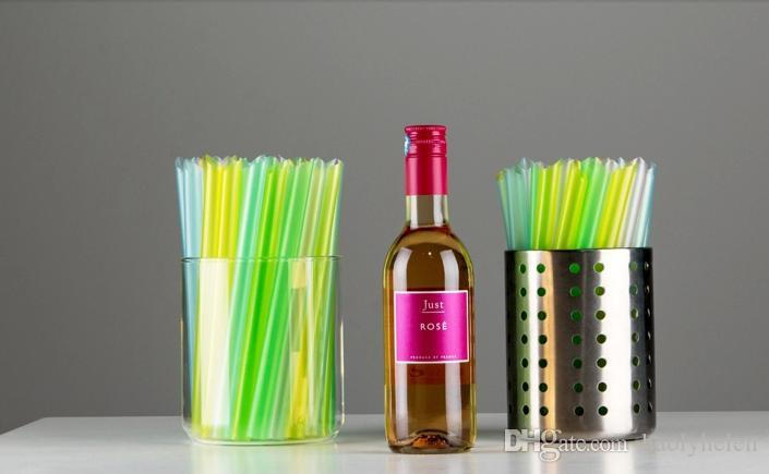 12*180mm Straight Wide Drinking Straw for Thick Shakes Boba Bubble Tea Smoothies Fat Drink Straws Fast