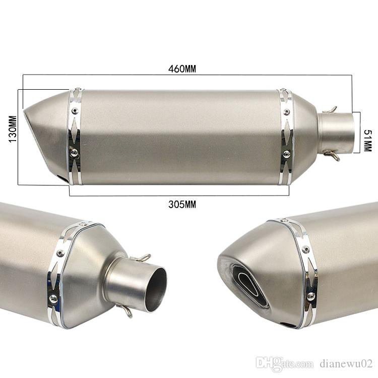 38 mm-51 mm Akrapovic Motorcycle Exhaust Muffler Pipe With DB Killer Modified Scooter for Dirt Street Bike Motorcycle