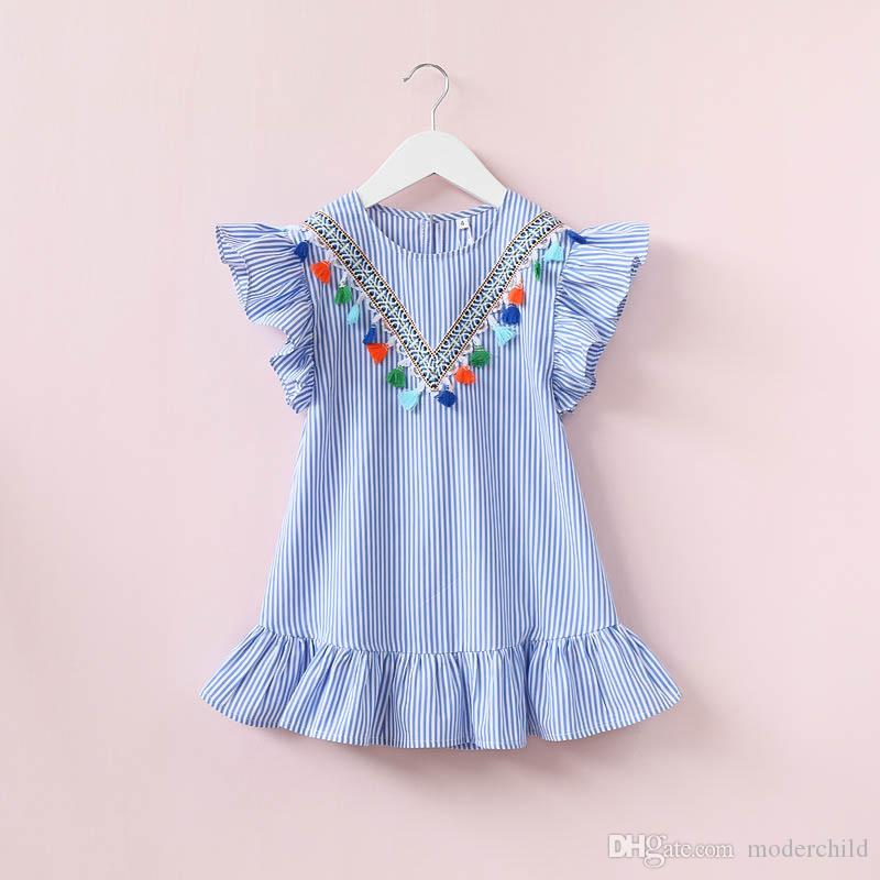 2019 2017 Whosale Children Summer Clothes Baby Girl Fly ...