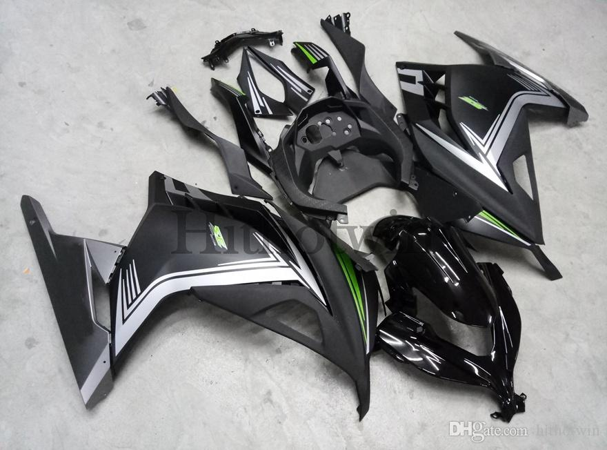 8Gifts+Aftermarket red white ABS Fairing For Kawasaki ZX300R EX300 2013 2014 EX300 13 14 Motorcycle Body fairings kit