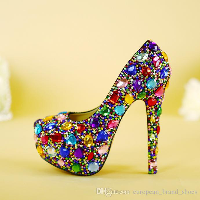 d3efe23b7 100% Handmade Wedding Shoes Women s Super High Heels Shoes Bride ...