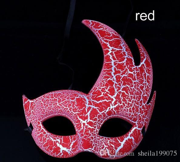 Alev çatlak moda yeni kadın boyama maske parti bar show venience mutlu dans