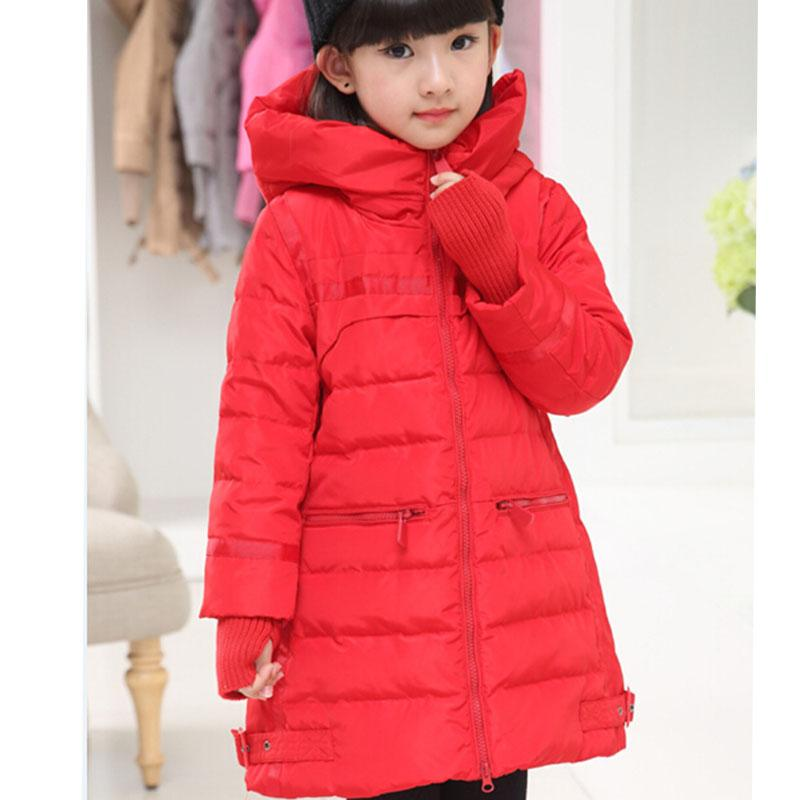 Down Coat Girls Winter Coats Long Thick Warm Down Teenage Winter ...