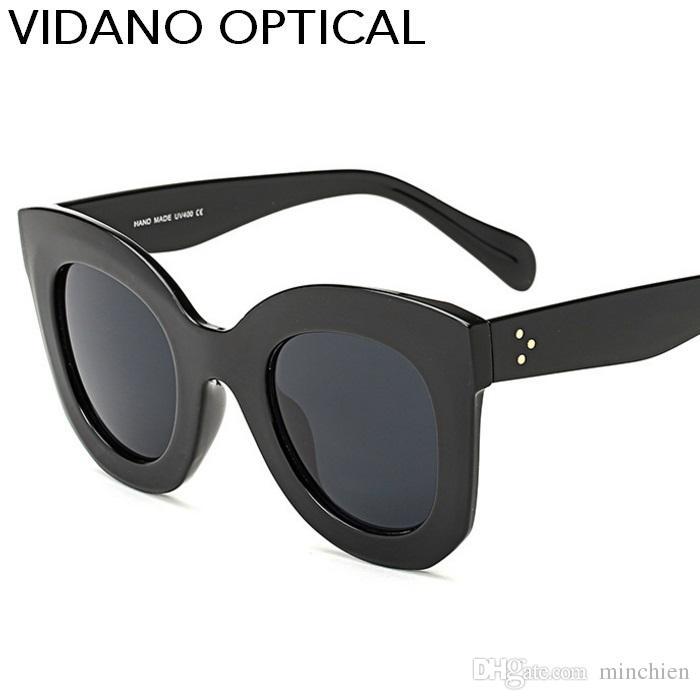 997763d691c00 Compre Vidano Óptico Olho De Gato Mulheres Óculos De Sol Quente Popular  Eyewear Clássico Cateye Óculos De Sol Designer De Moda Grande Marca  Gradiente UV400 ...