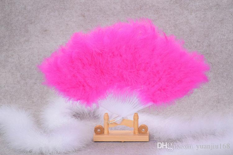 21 plumas plumas y dinette espectáculo props baile cuadrado colorido plumas ventilador rendimiento suministros