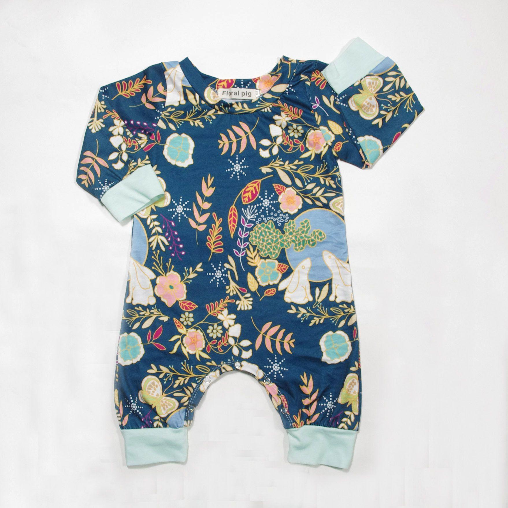 Autumn Newborn e piece Baby Boys Girls Long Sleeve Flower Cartoon