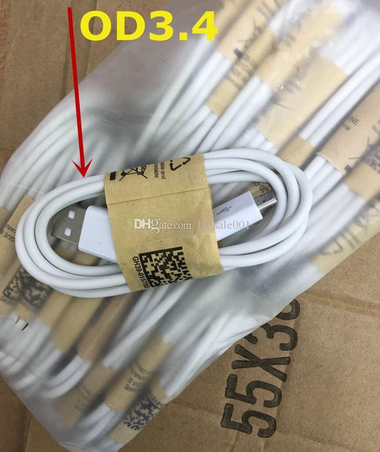 OD3.4 OD3.8 mm 1m Micro USB Kabel 2.0 Datensynchronisation Ladekabel Android Für Samsung galaxy Hinweis LG HTC Blackberry