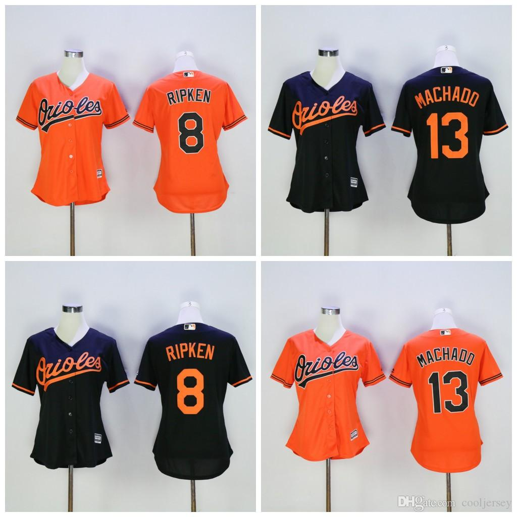 b557707de ... czech jersey white cream orange black throwback 2017 womens baltimore  orioles 13 manny machado 8 cal