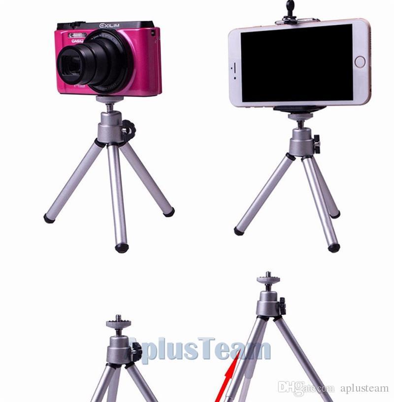 Evrensel Taşınabilir Tripod Streç Tutucu Dağı Standı Dönen Esnek Braketi Kamera Aksesuarları Adaptörü Telefon Malzemeleri Için iphone 6 7 Artı