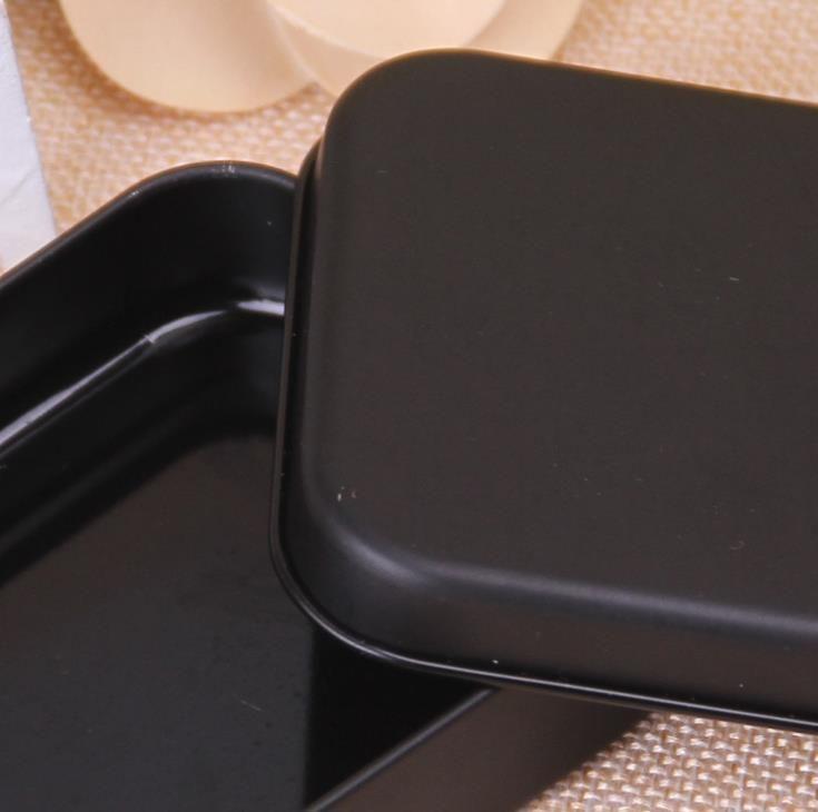 500 шт. мини-жестяная коробка маленький пустой черный металлический ящик для хранения организатор для денег монета конфеты ключи игральная карта подарочная коробка