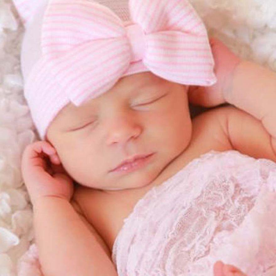 1fdf314230e 2019 Winter Autumn Warm Infant Girls Toddler Newborn Baby Soft Knitted Hat  Cute Boys Beanies Baby Bowknot Cap Accessories SEN035 From Lucky clover