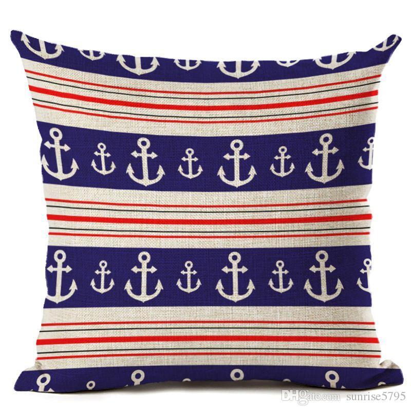 ethnic bohemian throw pillow case for chaise chair sea anchor cushion cover cartoon moroccan office decor scandinavian cojines