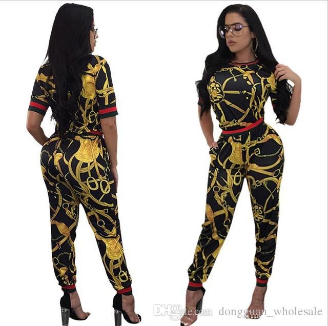6dce3de11a5 2018 New Vintage African Traditional Style Two Pieces Women Jumpsuits Half  Sleeve Top Long Bodycon Pants Ladies Romper Jumpsuit for Women Ladies  Romper Two ...