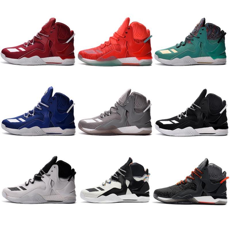 f89b04e16de 2019 New D Rose 7 Boost Basketball Shoes Men Boosts Hot Sale Derrick Rose  Shoes 7 VI 2017 Florist City Christmas Black Sports Sneaker From  Preparation1992