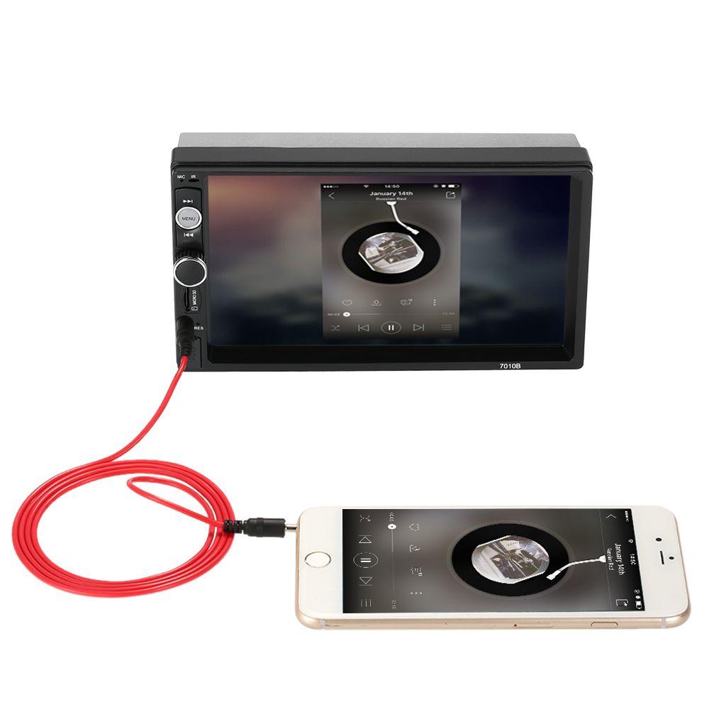 7 pulgadas Universal 2 Din HD Bluetooth auto Autoradio Reproductor MP5 Multimedia Radio Entretenimiento USB / TF FM Aux Entrada DVD del coche